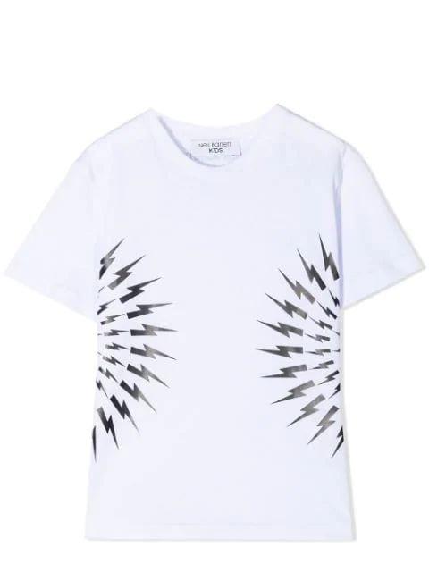 Neil Barrett Kids' Print T-shirt In White