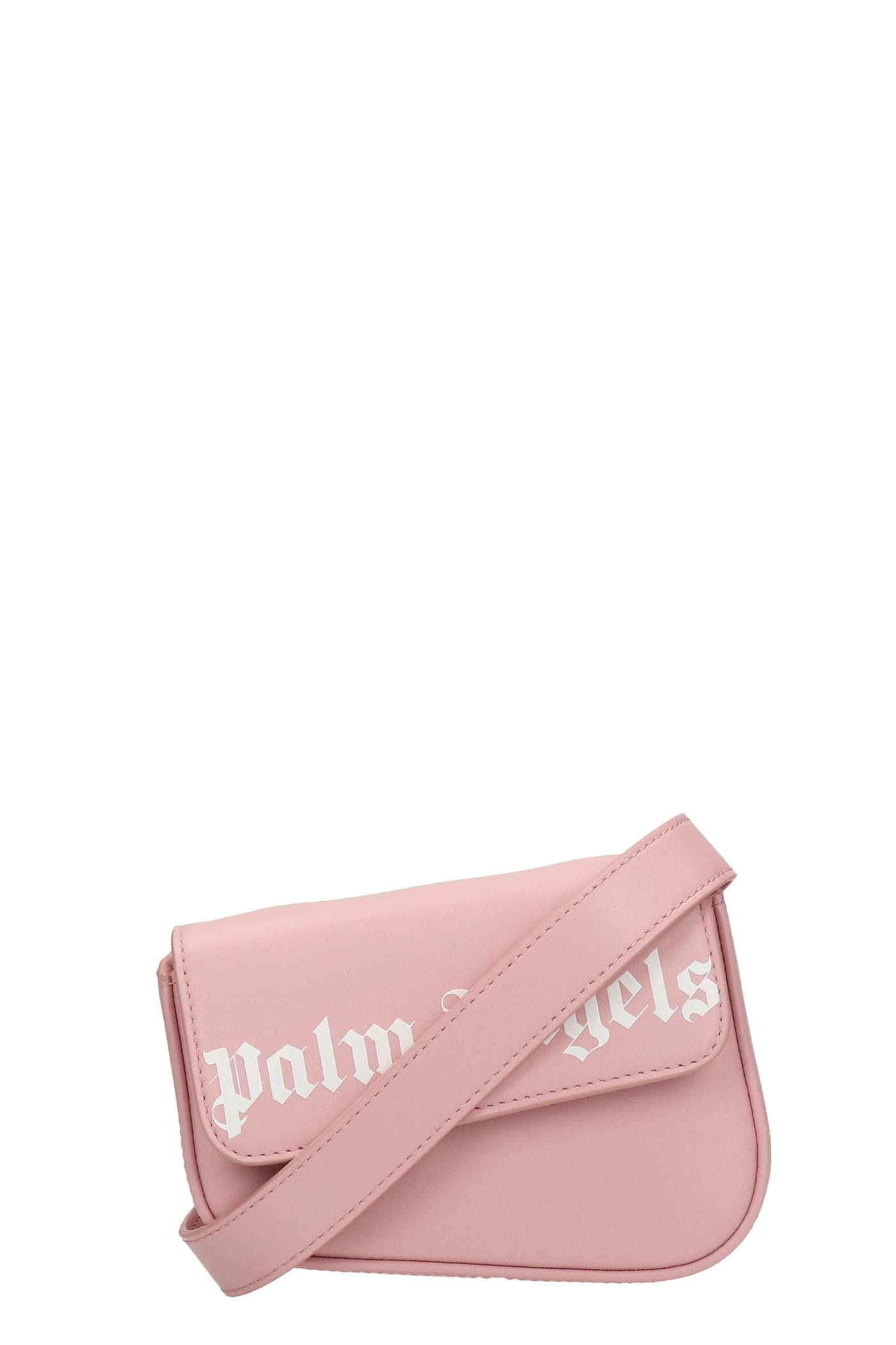 Palm Angels Waist Bag In Rose-pink Leather