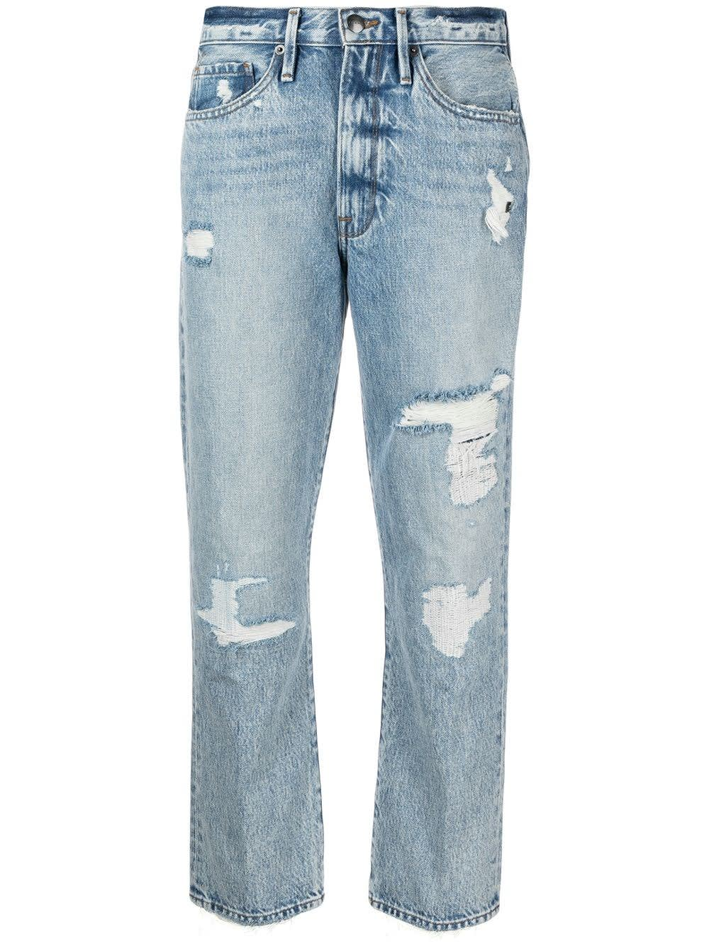 Frame FIVE POCKETS DENIM JEANS WITH RIPS DETAIL