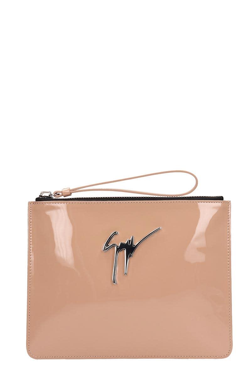 Giuseppe Zanotti Bags Giuseppe Zanotti Margery Pink Leather Pouch