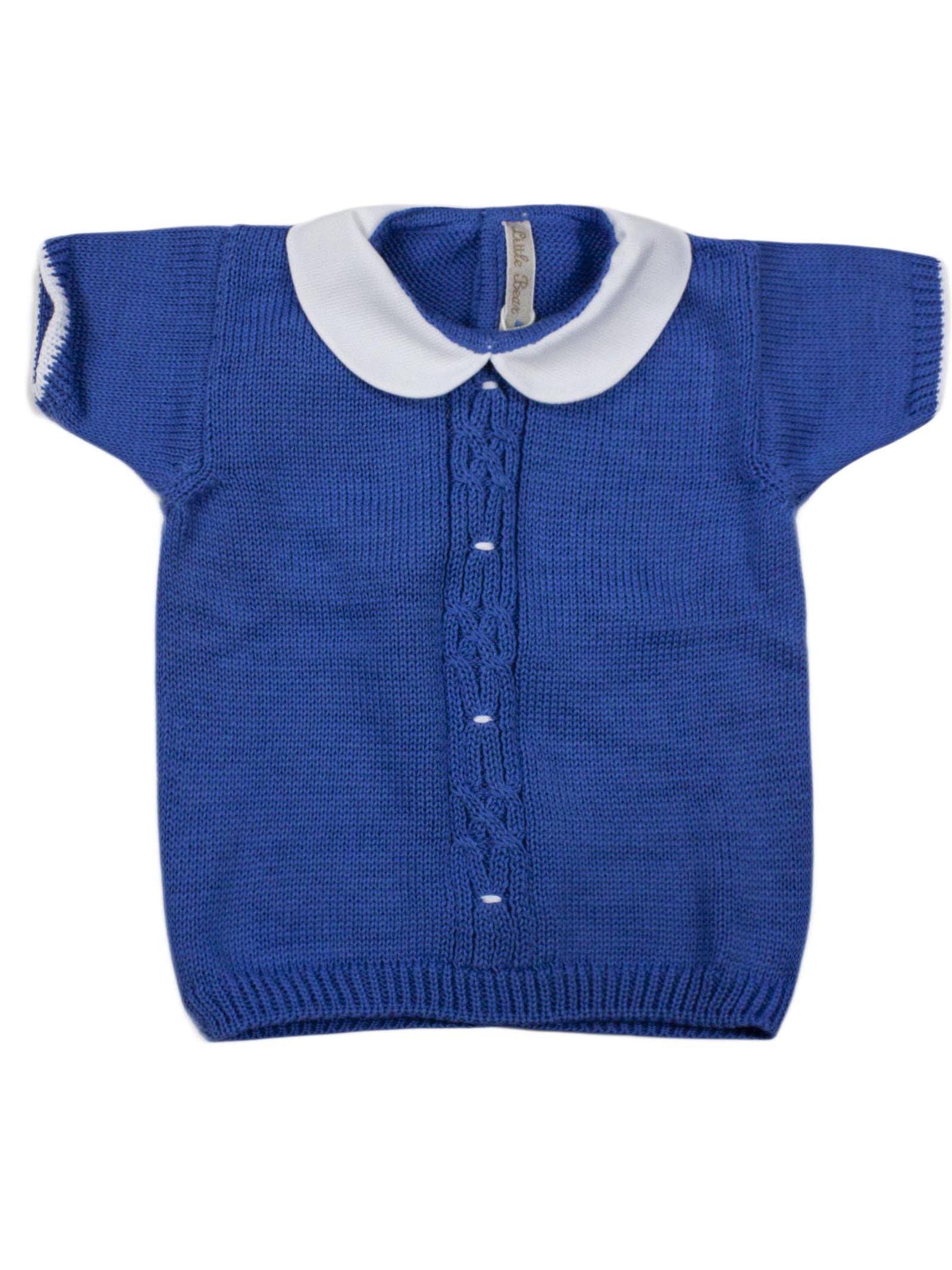 Little Bear Blue Cotton Sweater