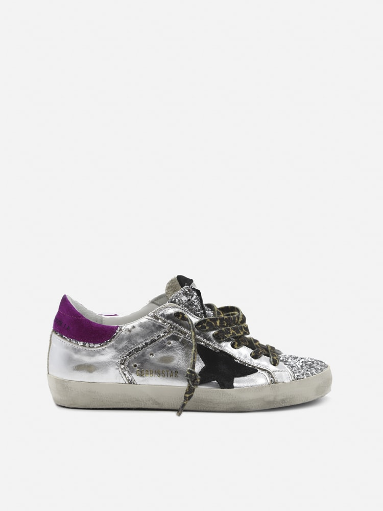 Golden Goose Superstar Sneakers In Laminated Effect Leather