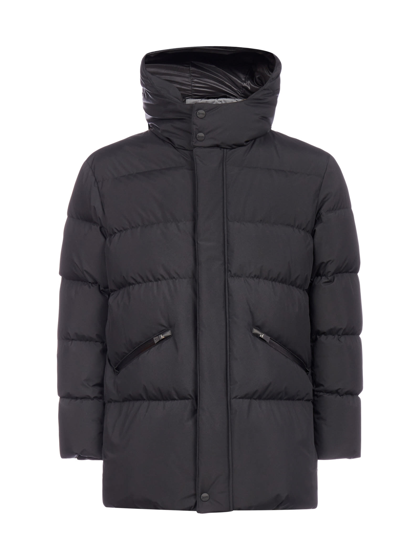 Herno Hooded Quilted Nylon Down Jacket