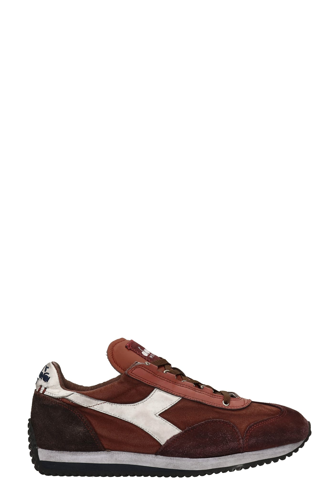 Equipe H Sneakers In Bordeaux Suede And Fabric