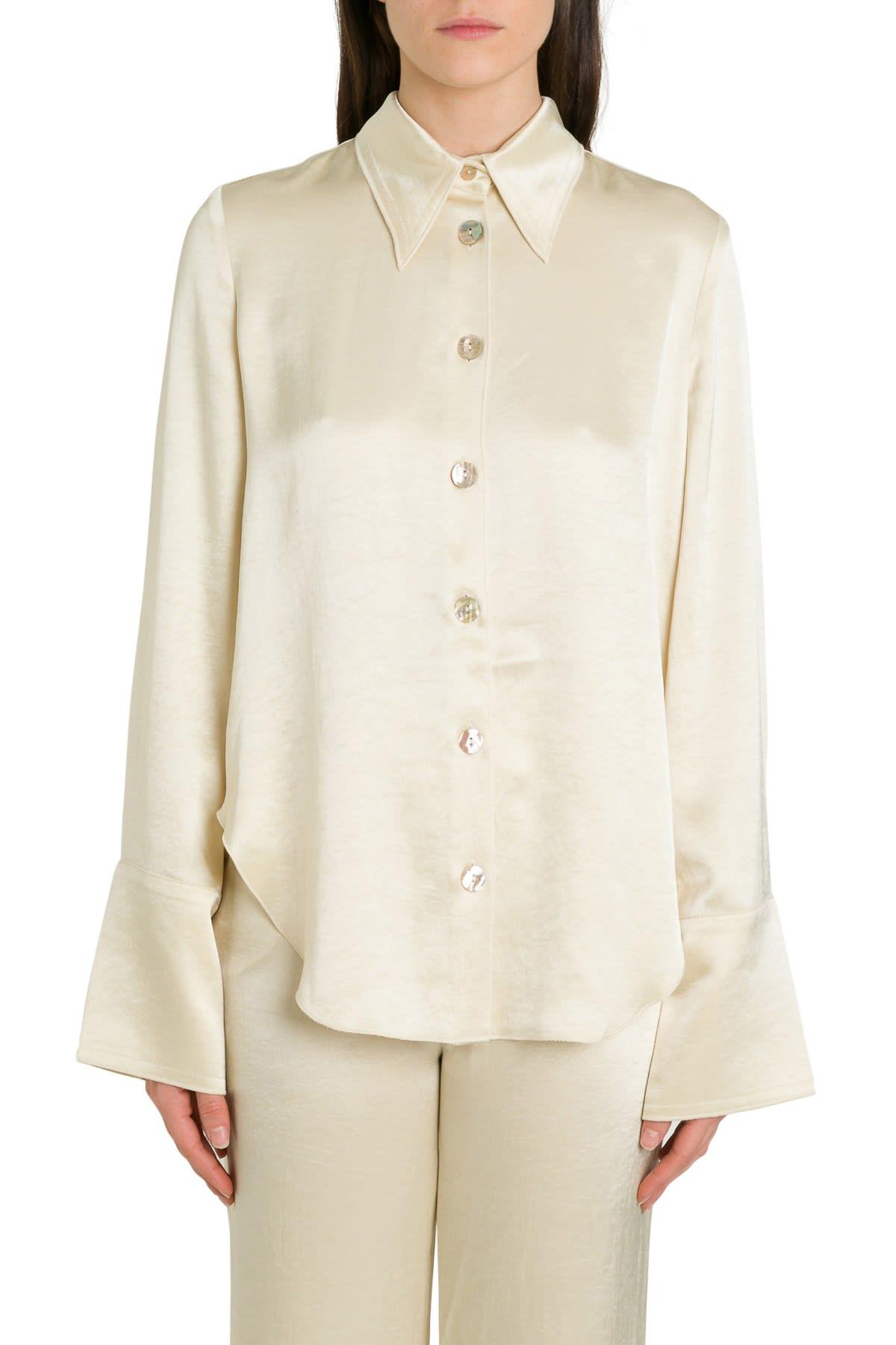 Nanushka Manine Satin Shirt