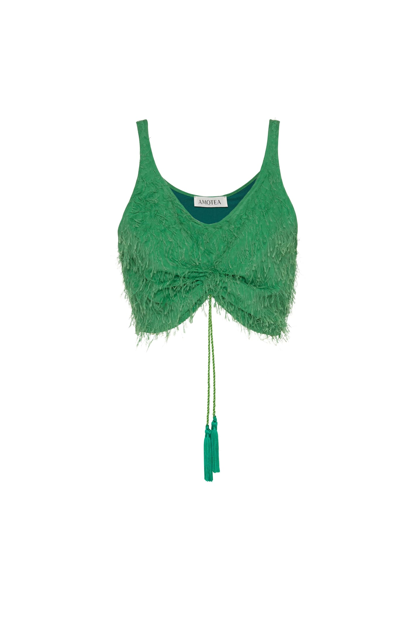 Kate Crop Top In Green Fil Coupe