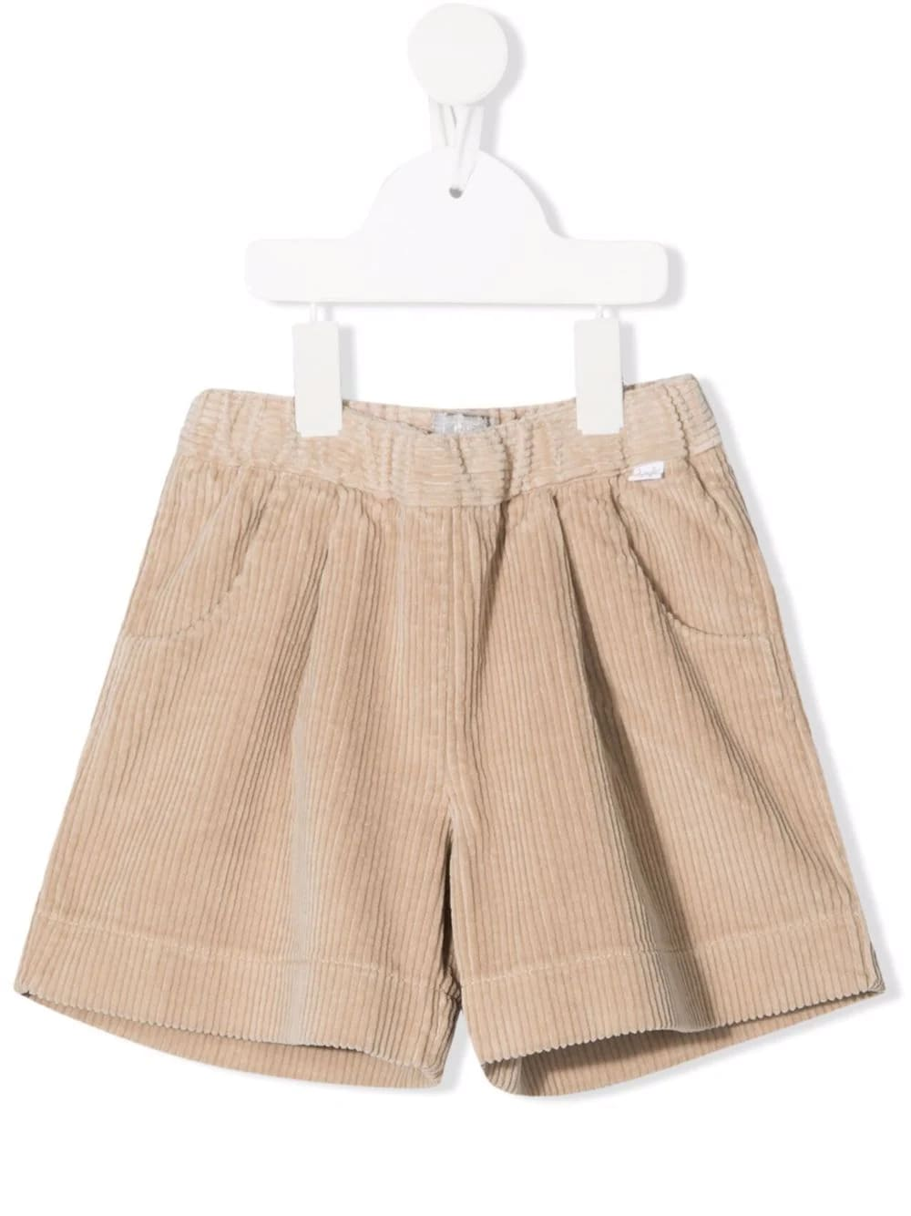 Kids Shorts In Beige Corduroy