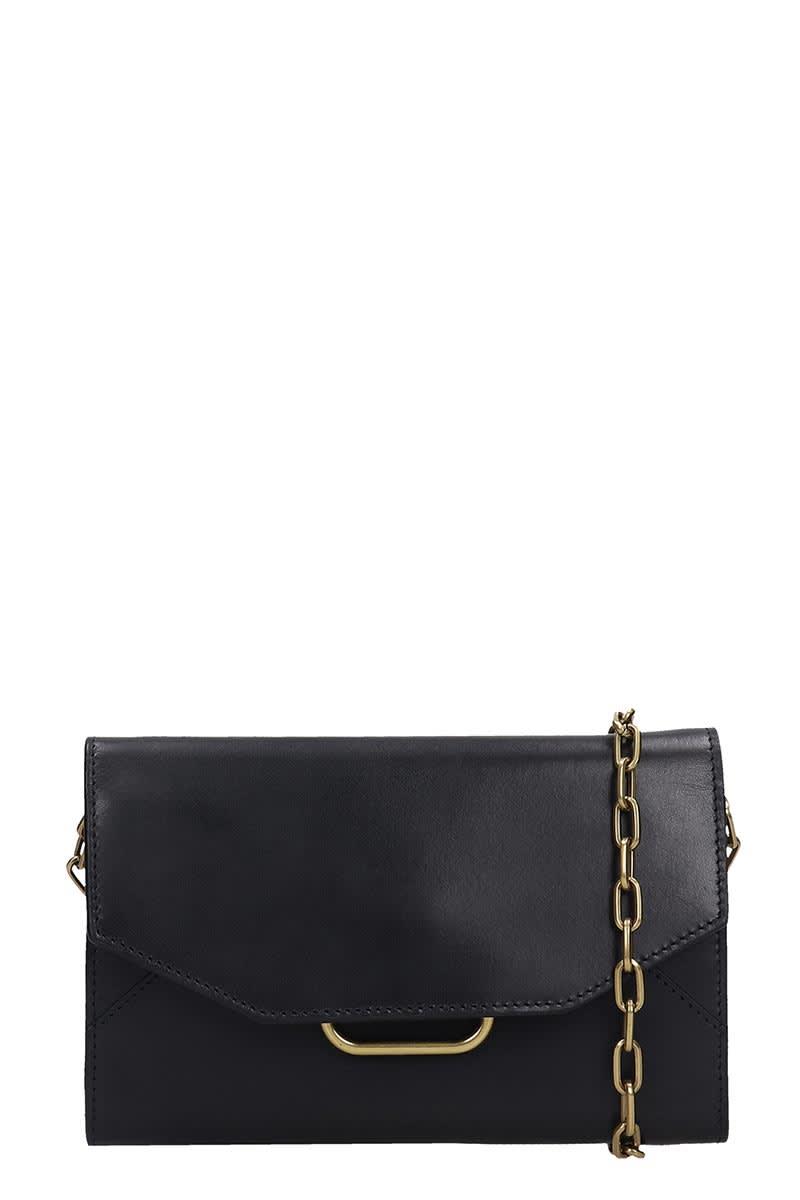 Isabel Marant Kyloe Shoulder Bag In Black Leather