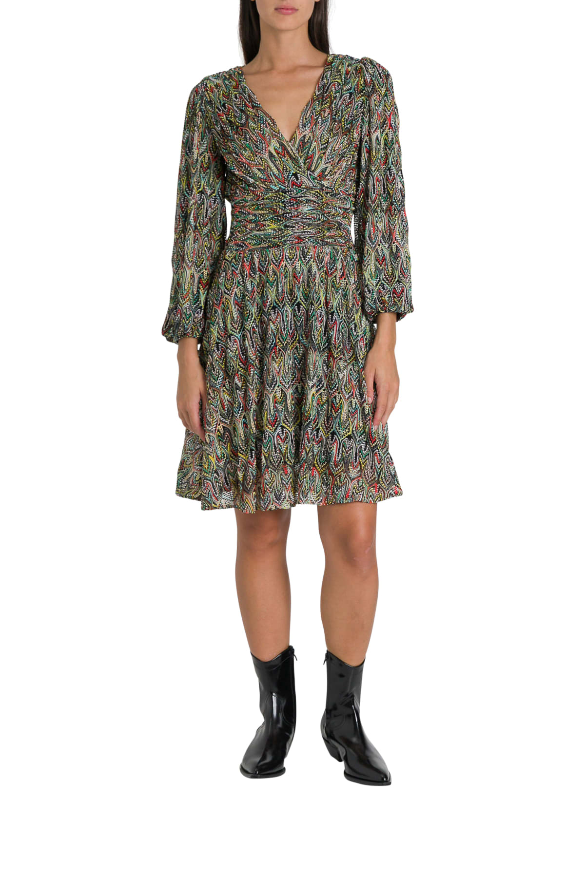Buy Missoni Mutlicoured Knitted Midi Dress online, shop Missoni with free shipping