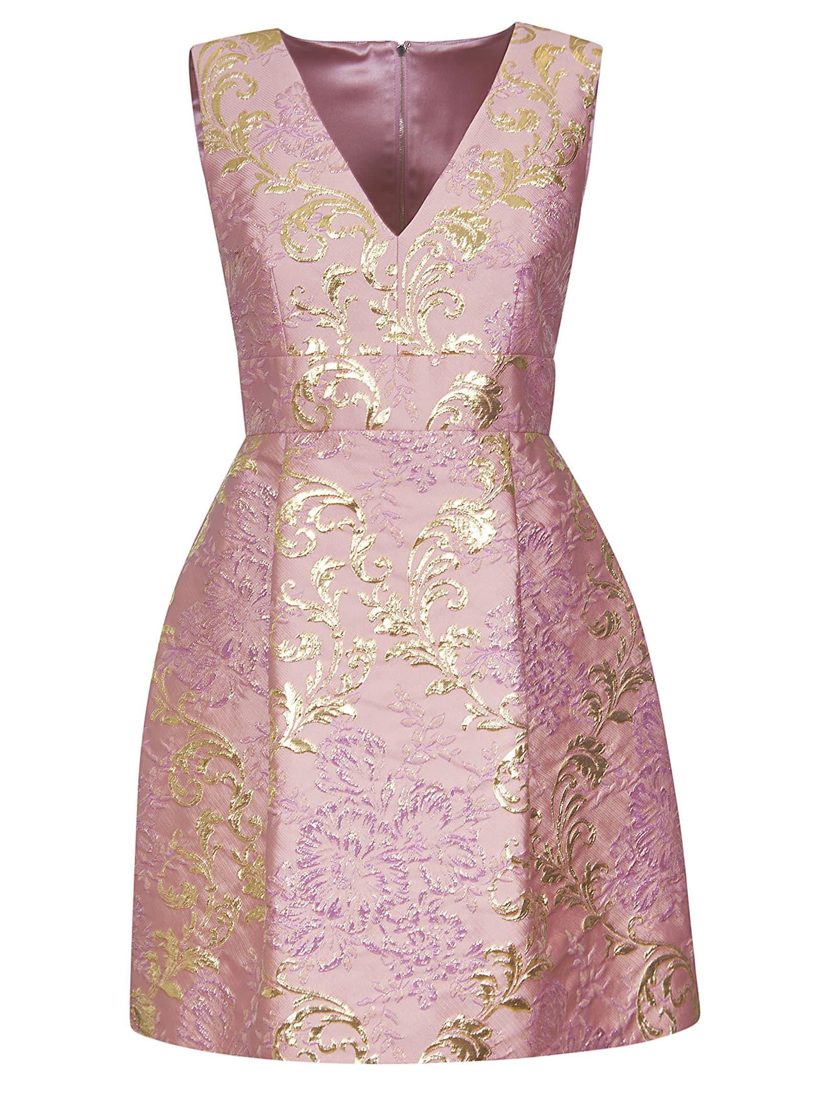 Buy Dolce & Gabbana Floral V-neck Dress online, shop Dolce & Gabbana with free shipping