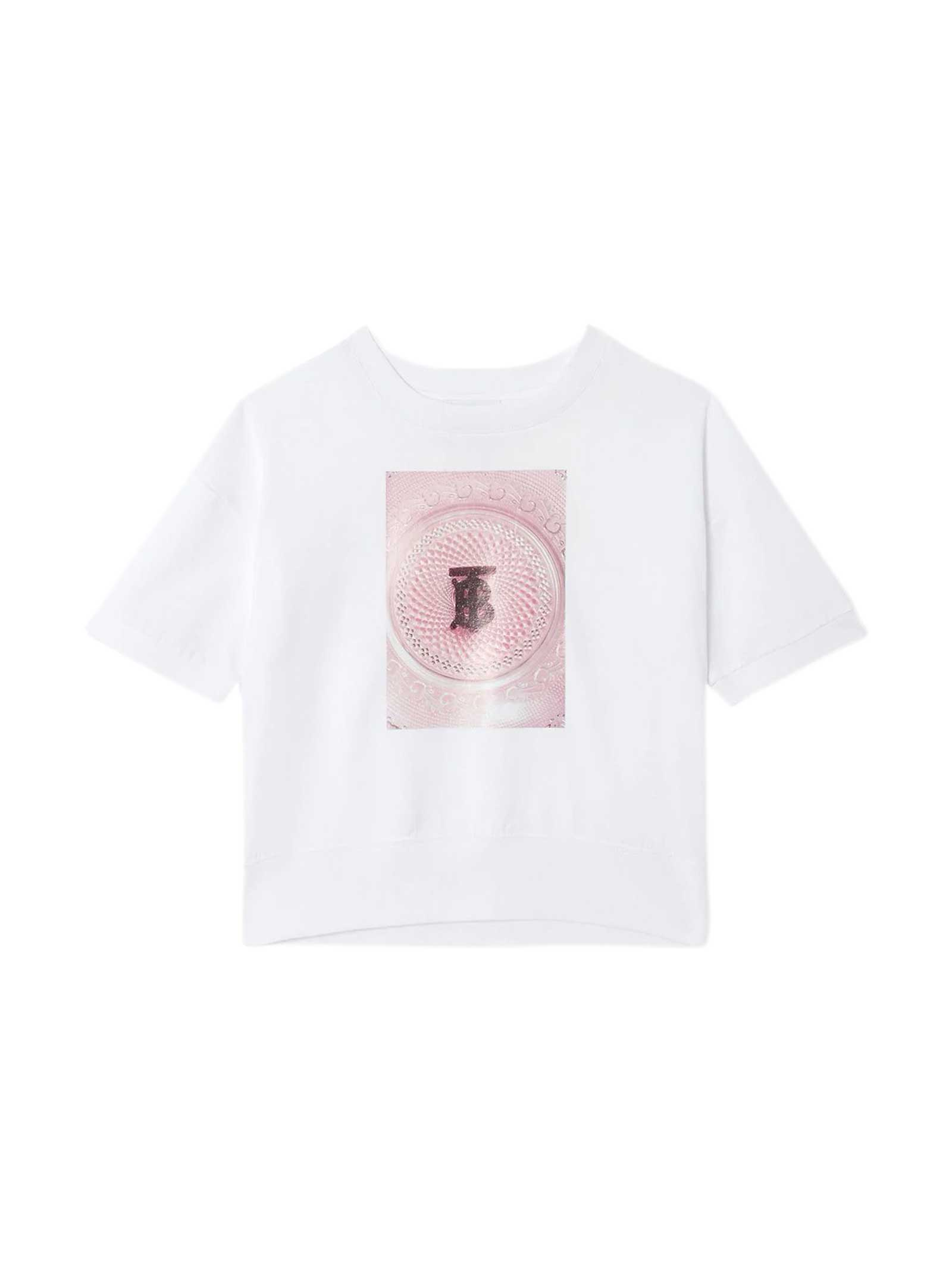 Burberry Kids' White T-shirt In Bianco