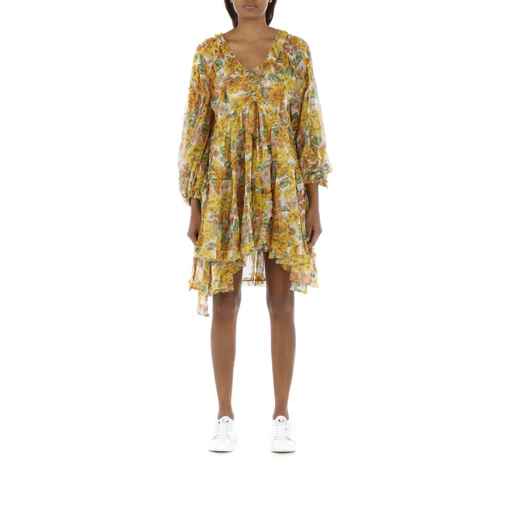 Buy Poppy Frill Billow Mini Dress online, shop Zimmermann with free shipping