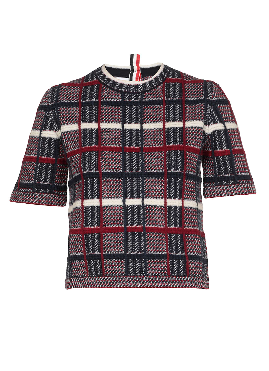 Thom Browne Check Jaquard Wool Sweater