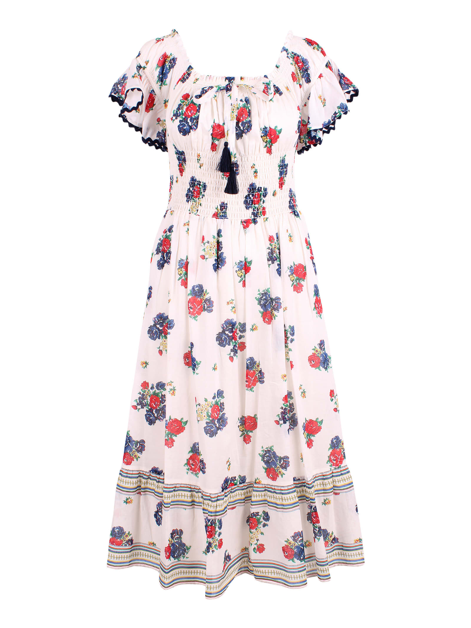 Buy Tory Burch Meadow Folly Cotton Dress online, shop Tory Burch with free shipping