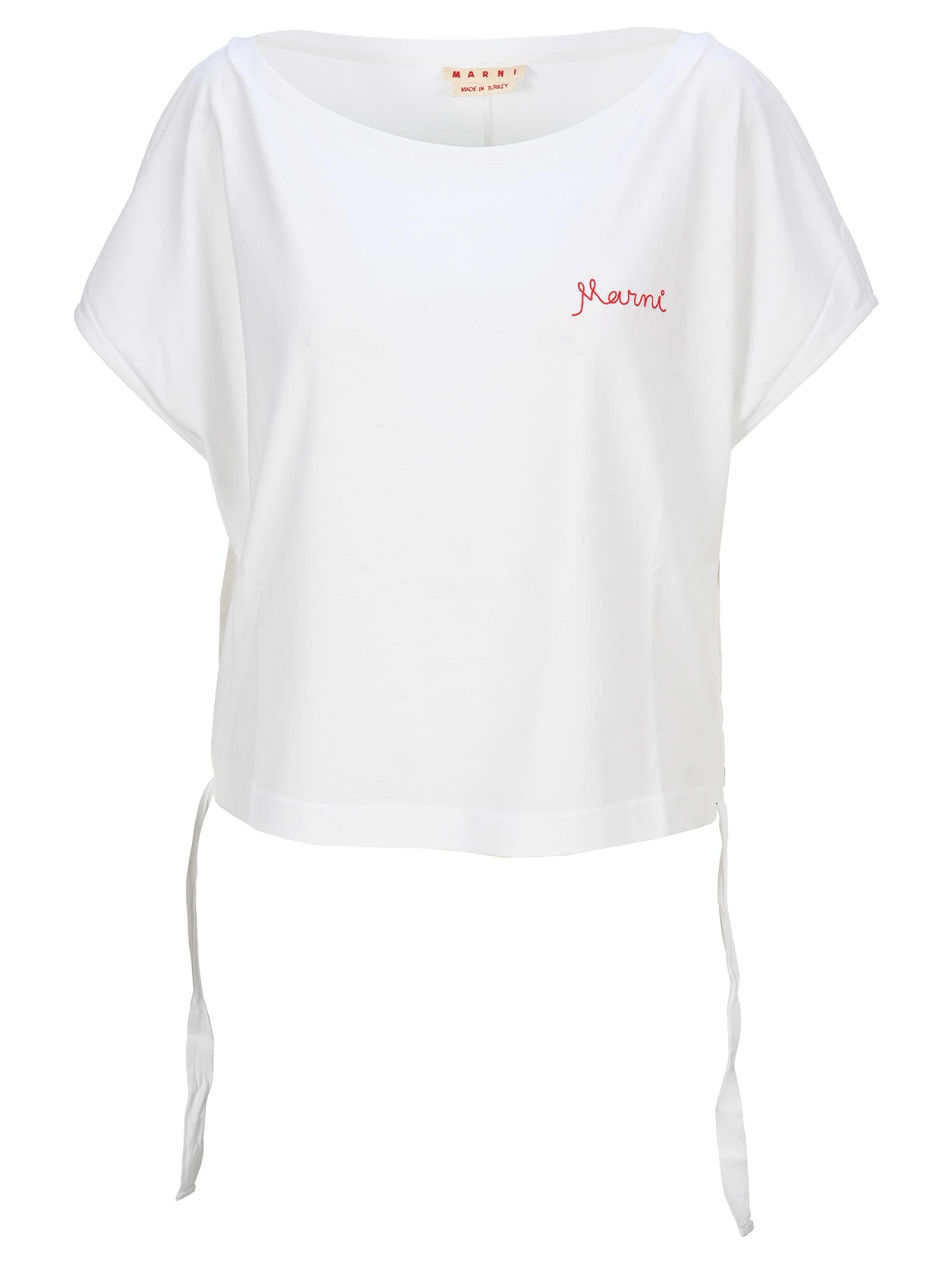Marni EMBROIDERED-LOGO T-SHIRT