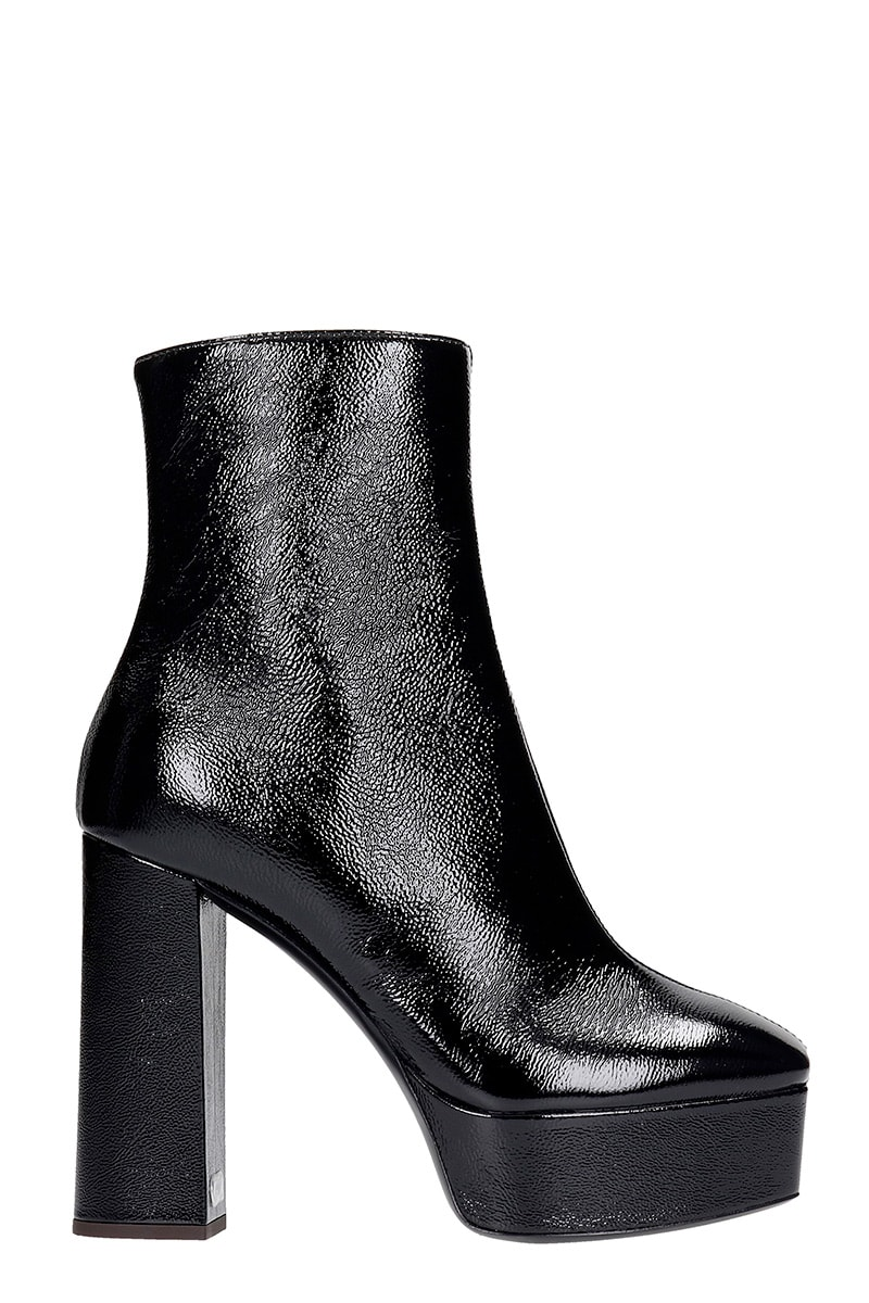 Giuseppe Zanotti MORGANA HIGH HEELS ANKLE BOOTS IN BLACK LEATHER