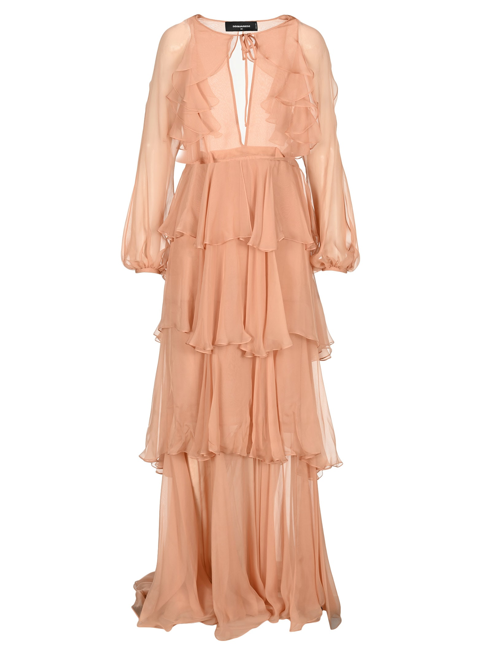 Buy D Squared Long Flounce Dress online, shop Dsquared2 with free shipping