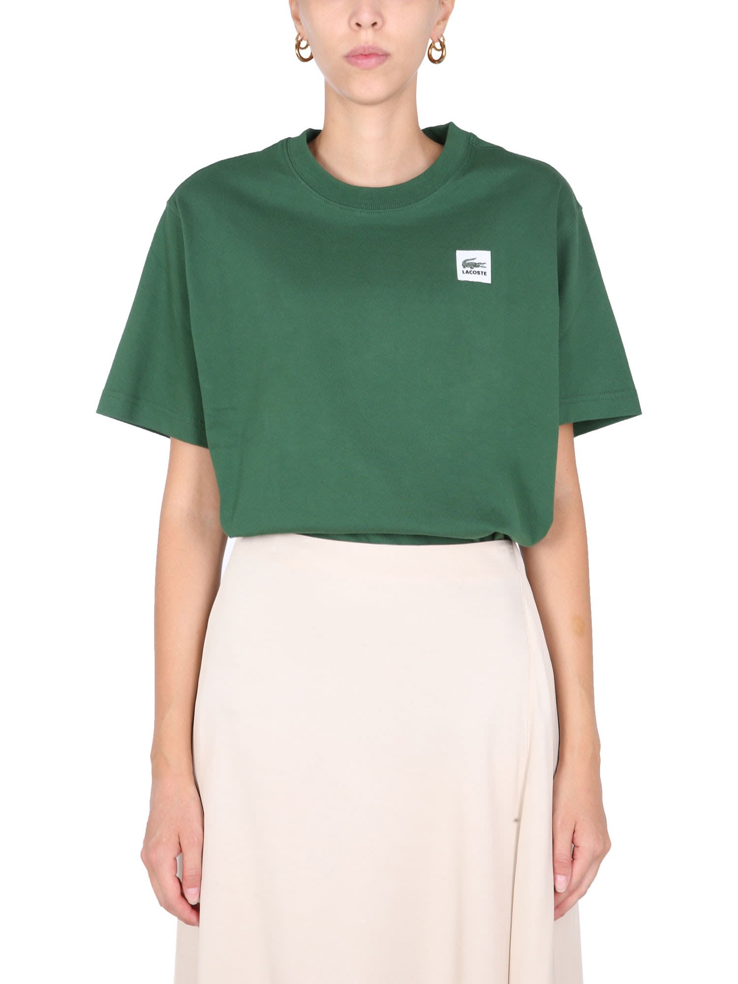 Lacoste L!VE T-shirt With Logo Patch