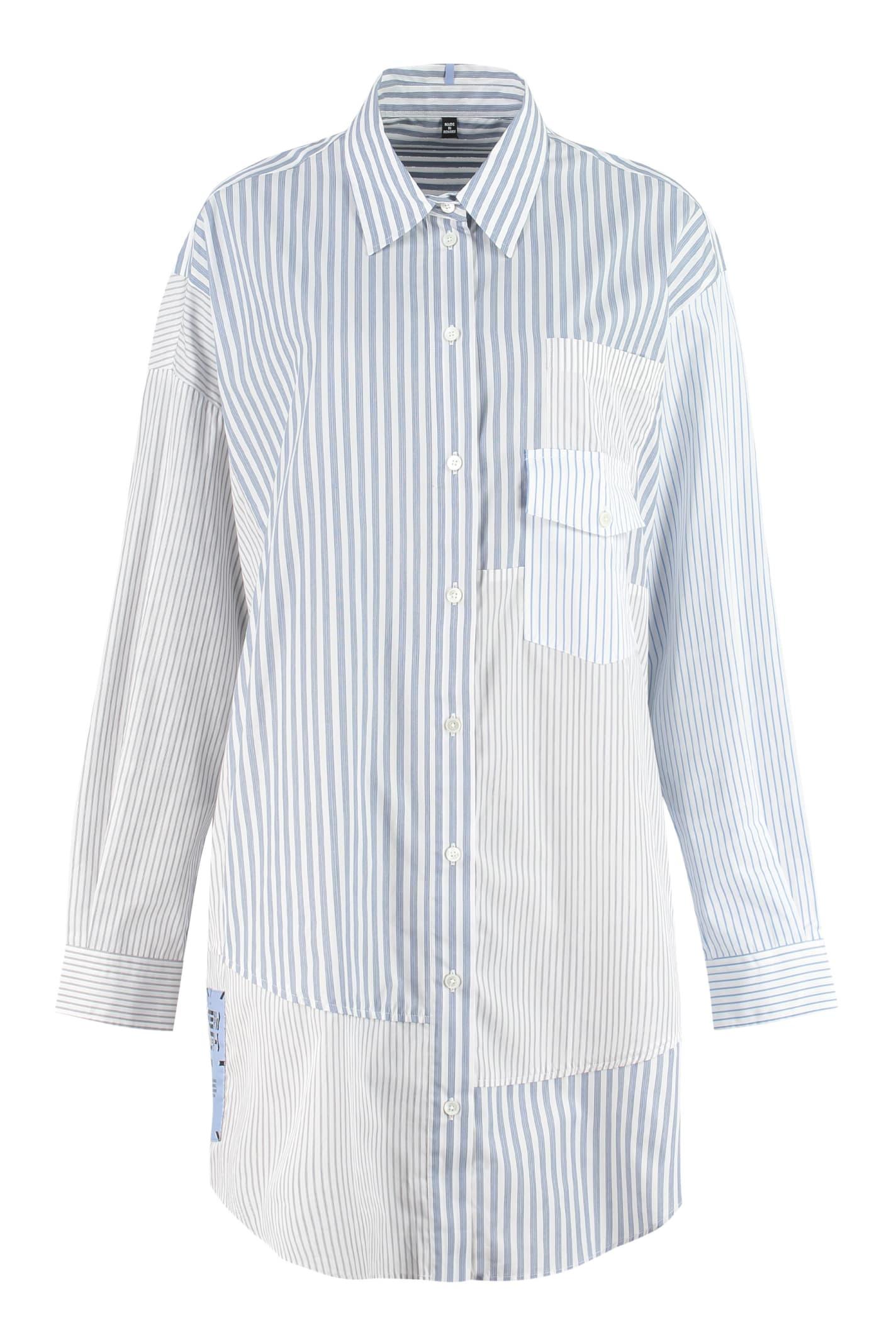 Buy McQ Alexander McQueen Striped Cotton Shirtdress online, shop McQ Alexander McQueen with free shipping