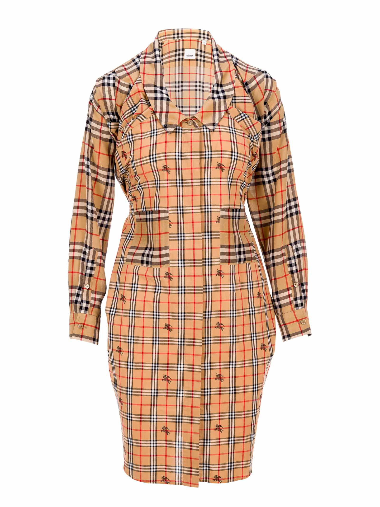 Buy Burberry London Vintage Check Silk And Cotton Shirt Dress online, shop Burberry London with free shipping