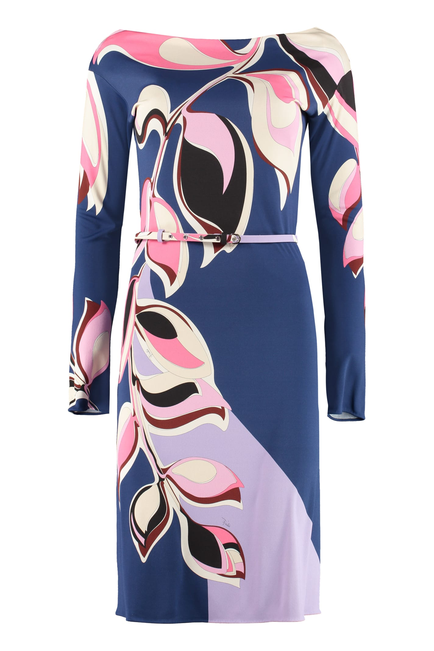Buy Emilio Pucci Printed Jersey Sheath-dress online, shop Emilio Pucci with free shipping