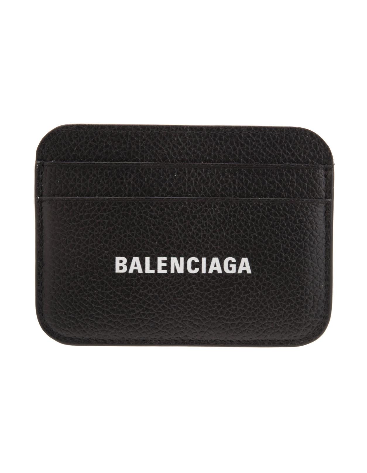 BALENCIAGA BLACK CASH CARD HOLDER WITH LOGO