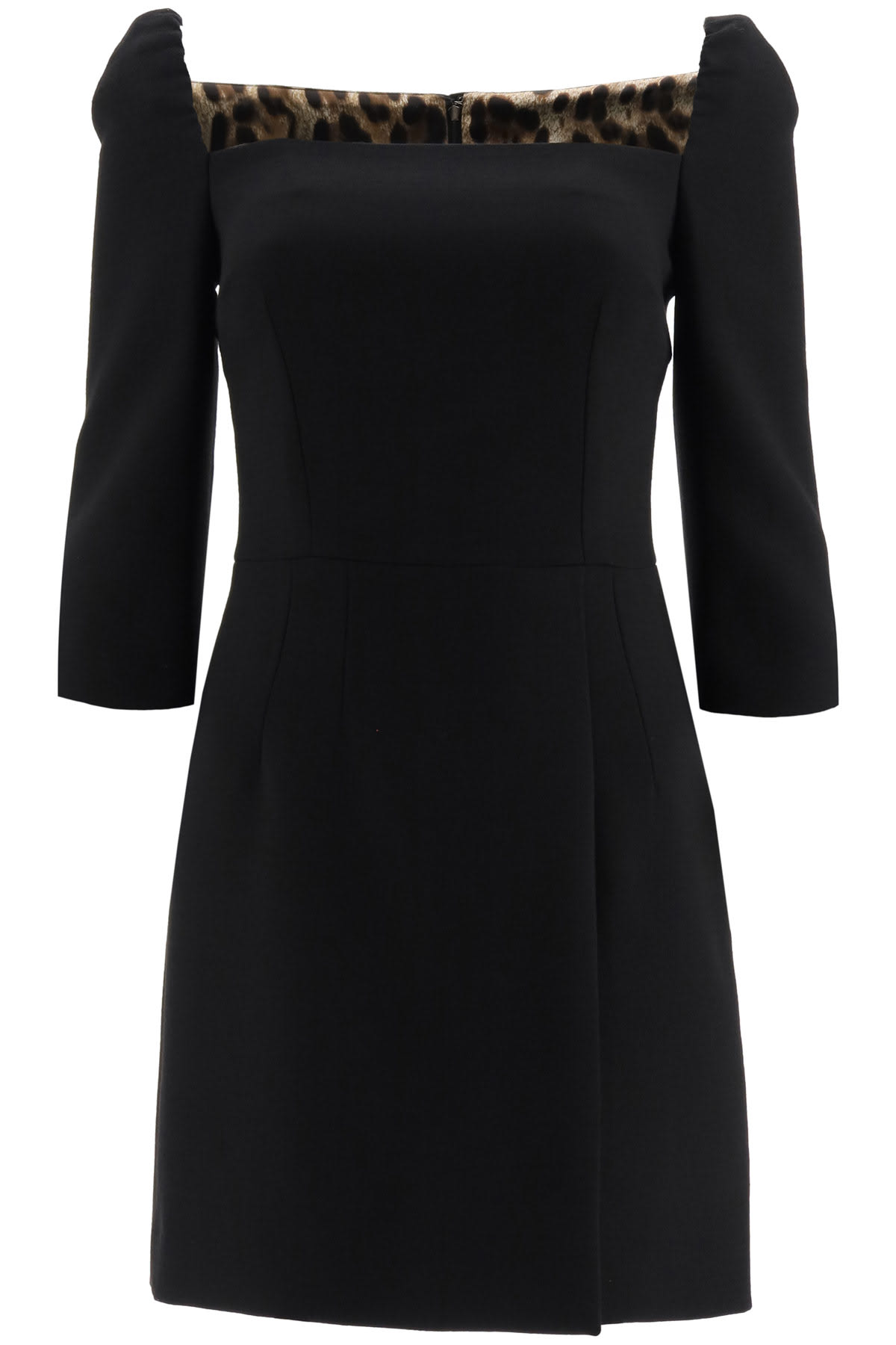 Dolce & Gabbana Wool Crepe Mini Dress