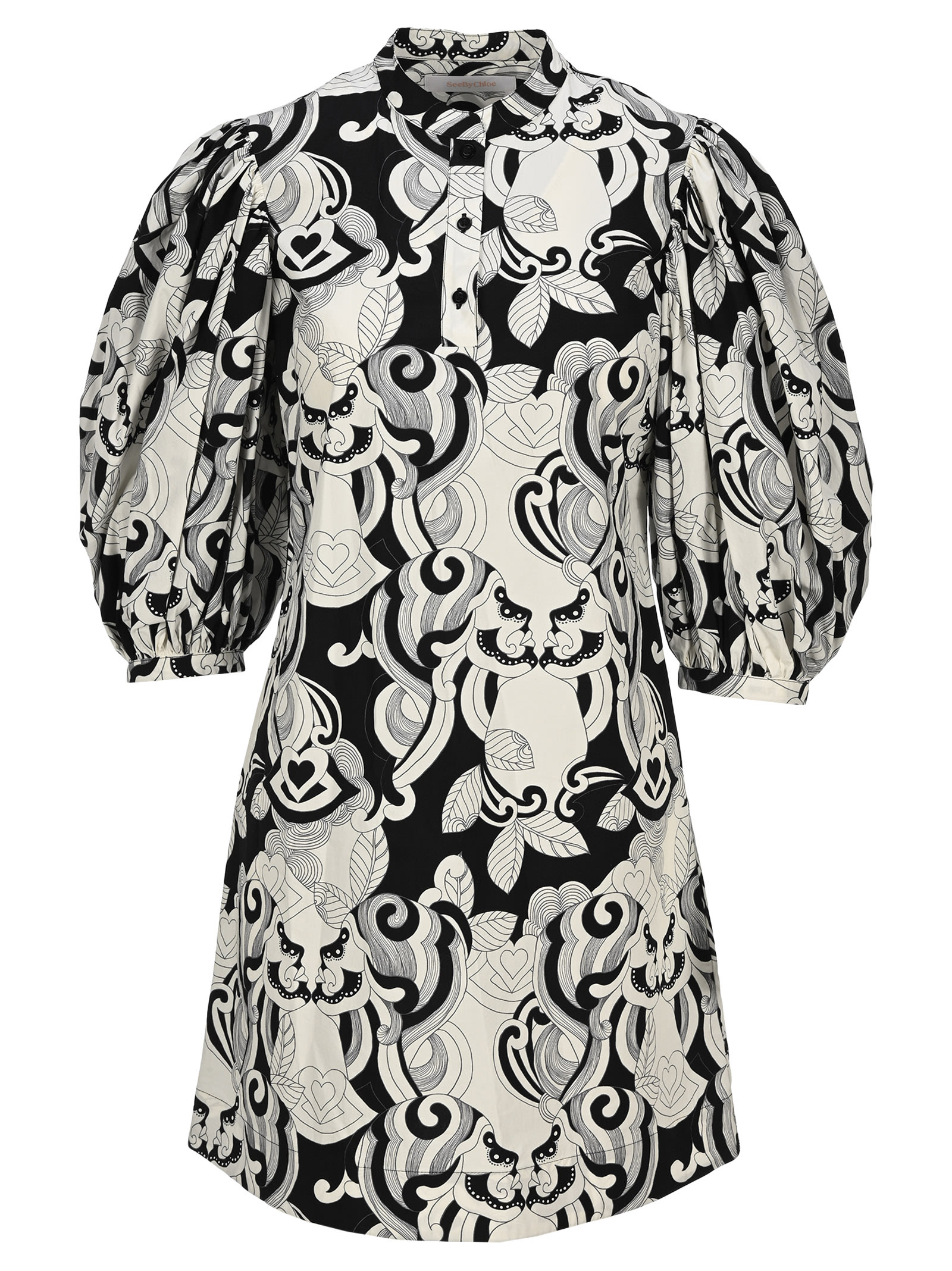 Buy See by Chloé See By Chloe Graphic Print Mini Dress online, shop See by Chloé with free shipping