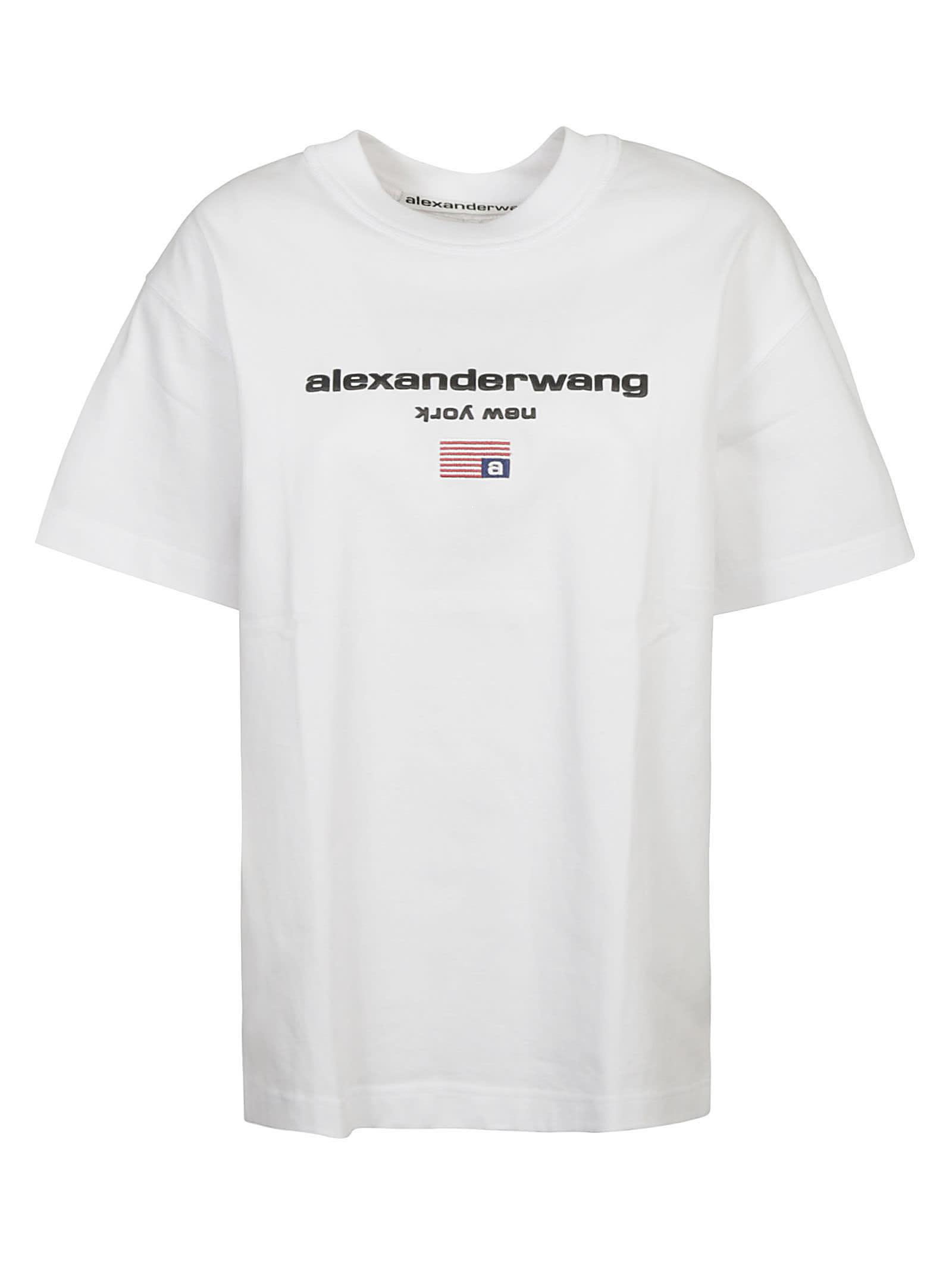 Alexander Wang GRAPHIC LOGO SHORT-SLEEVE T-SHIRT
