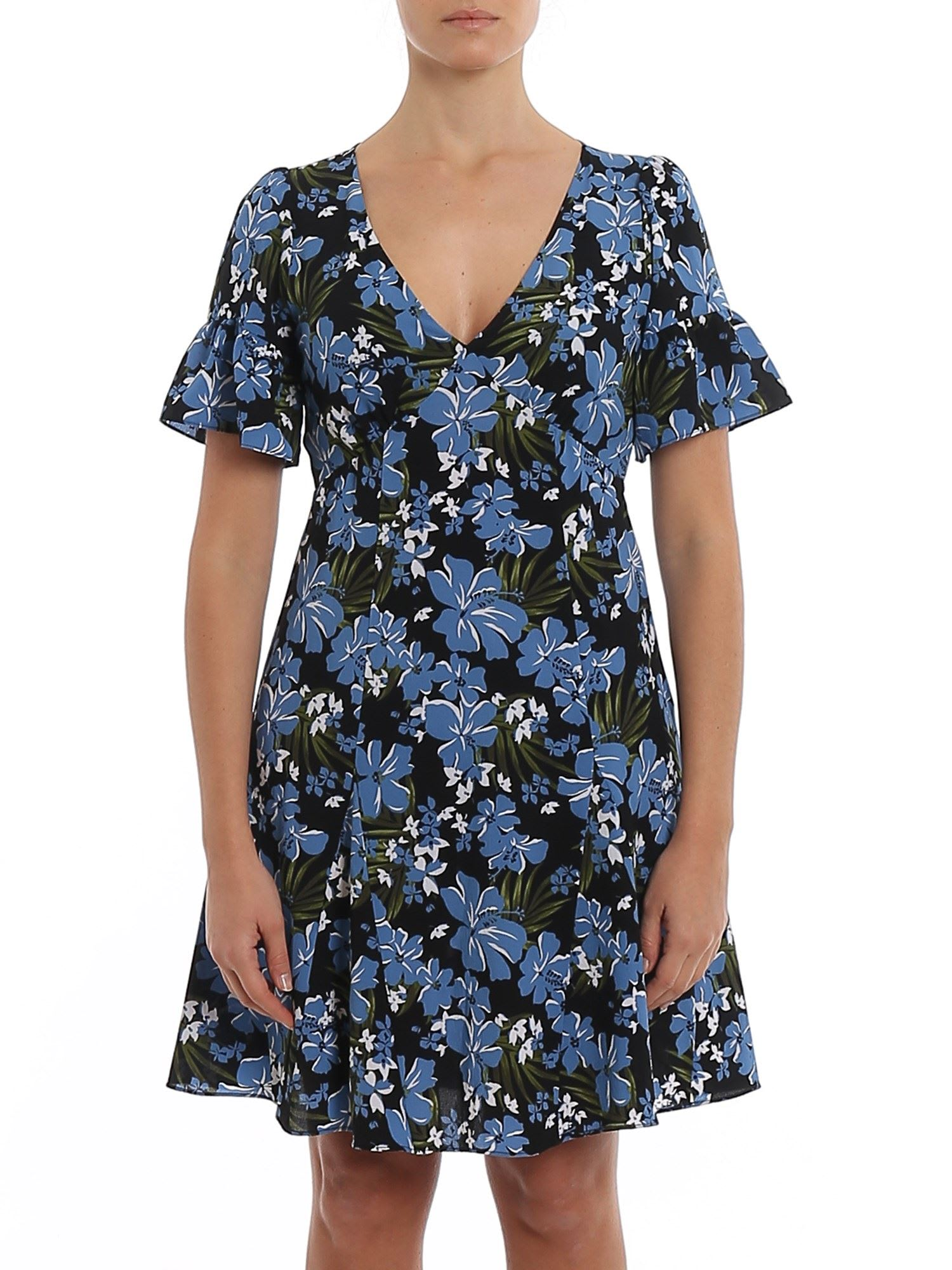 Buy Floral Cady Flared Dress online, shop MICHAEL Michael Kors with free shipping