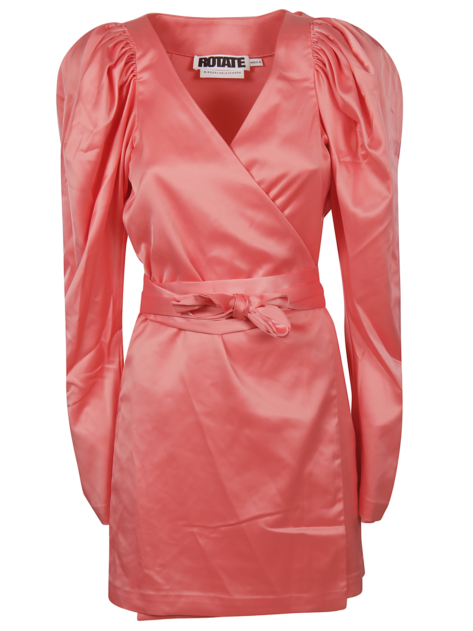 Rotate by Birger Christensen V-neck Belted Dress