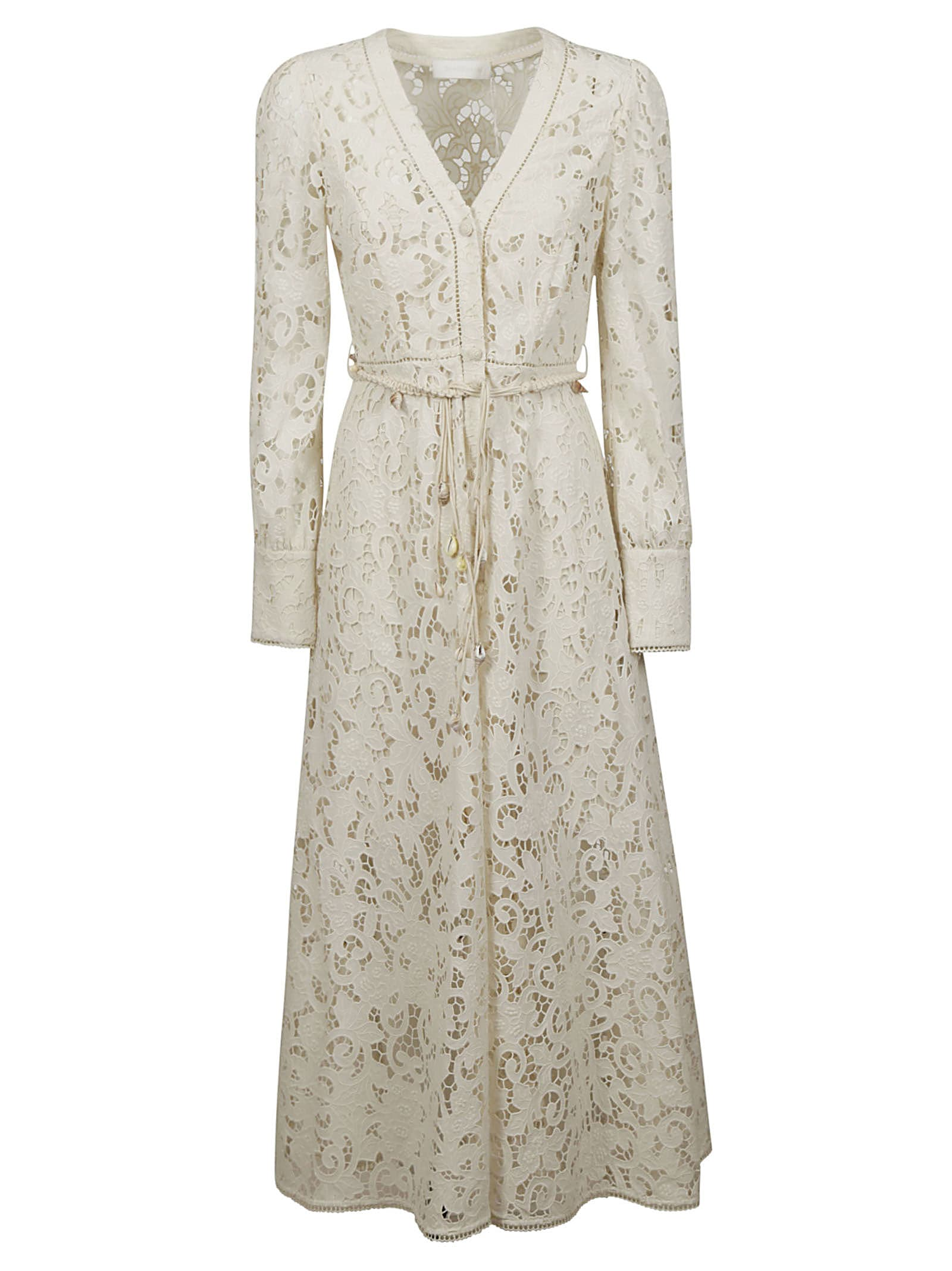 Buy Zimmermann Freja Broderie Button Up Dress online, shop Zimmermann with free shipping