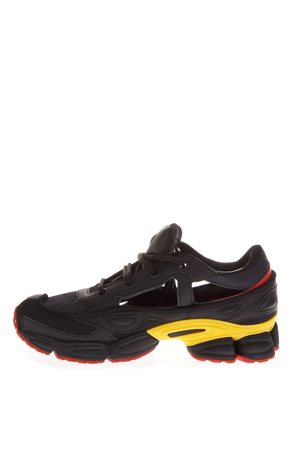 detailed look 721dd 09cc0 Best price on the market at italist | Adidas By Raf Simons Adidas By Raf  Simons Black Replicant Ozweego Sneakers By Raf Simons