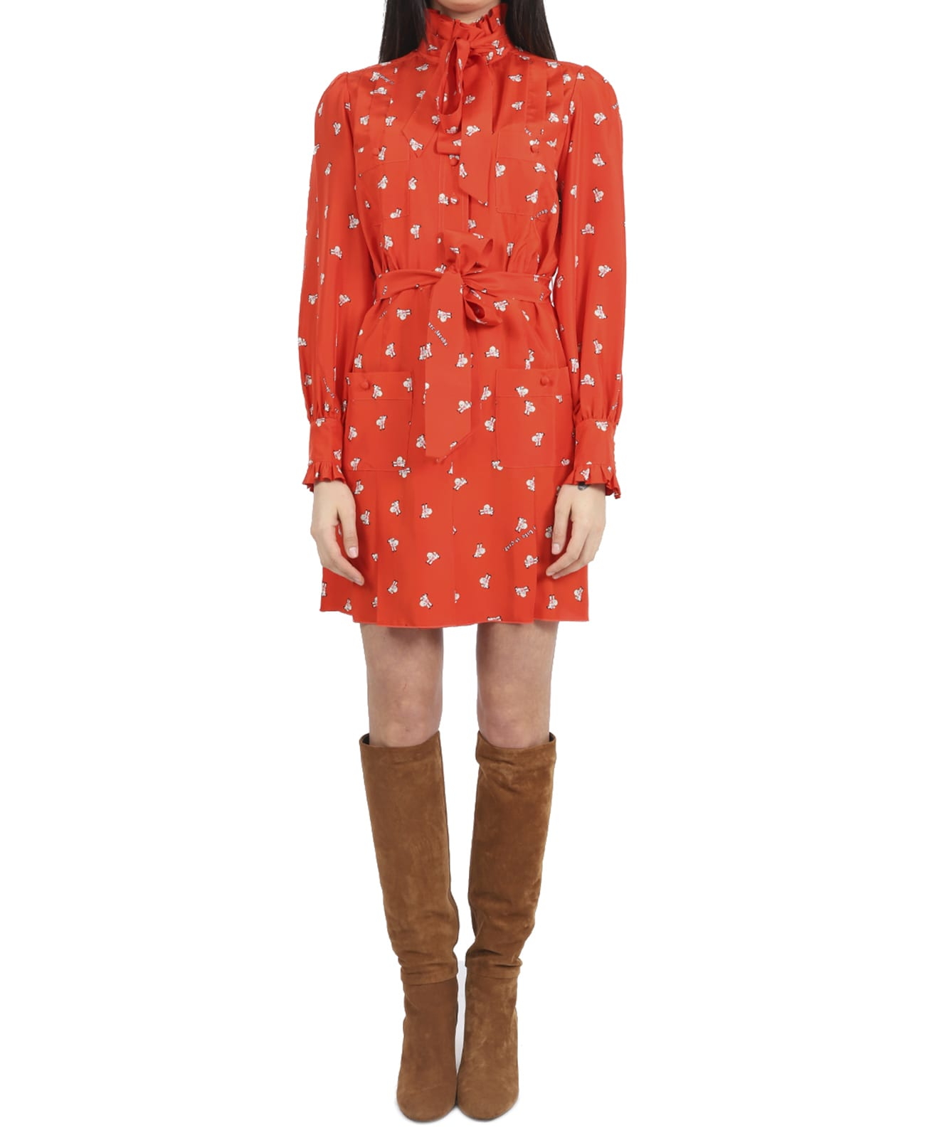 Buy Marc Jacobs X Magda Archer Red Shirt Dress online, shop Marc Jacobs with free shipping