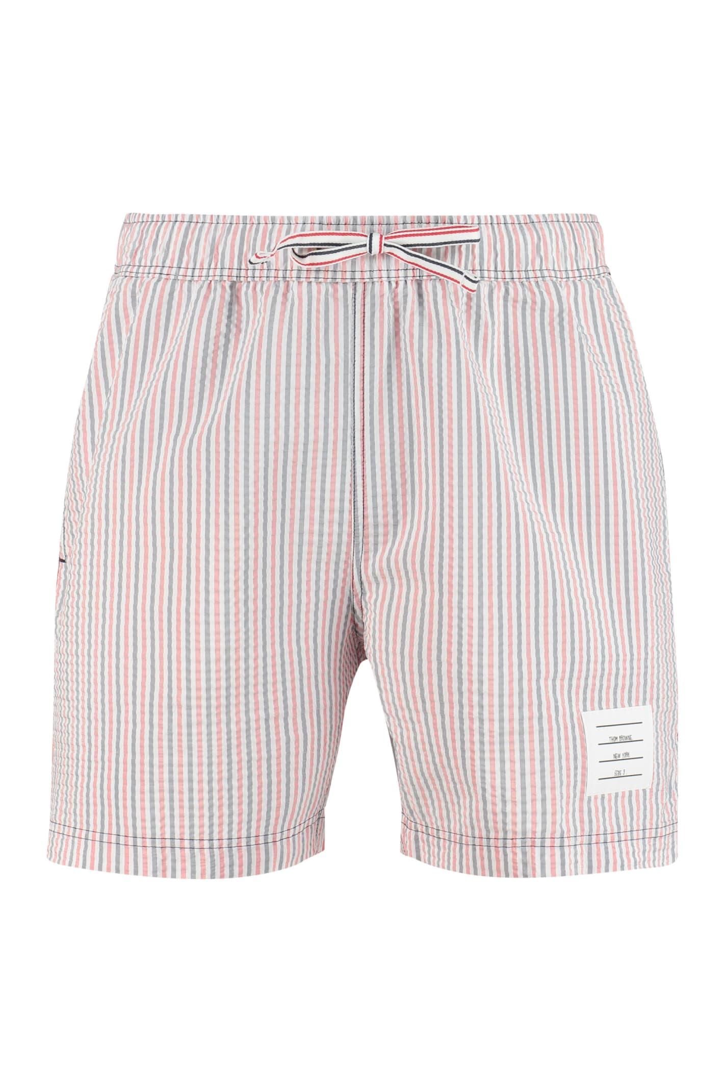 Thom Browne Shorts STRIPED SWIM SHORTS