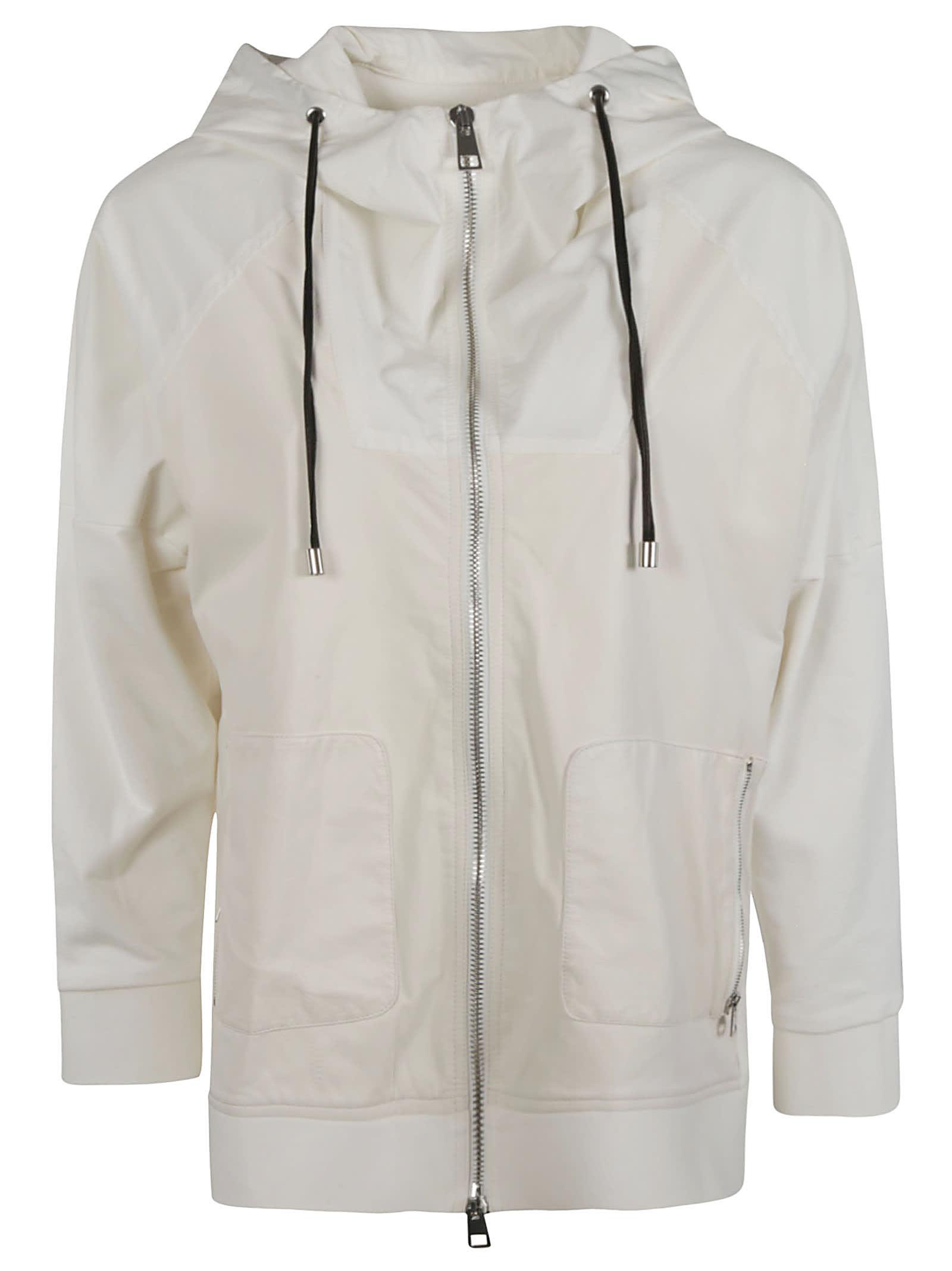 Side Zip Pocket Detail Hooded Jacket