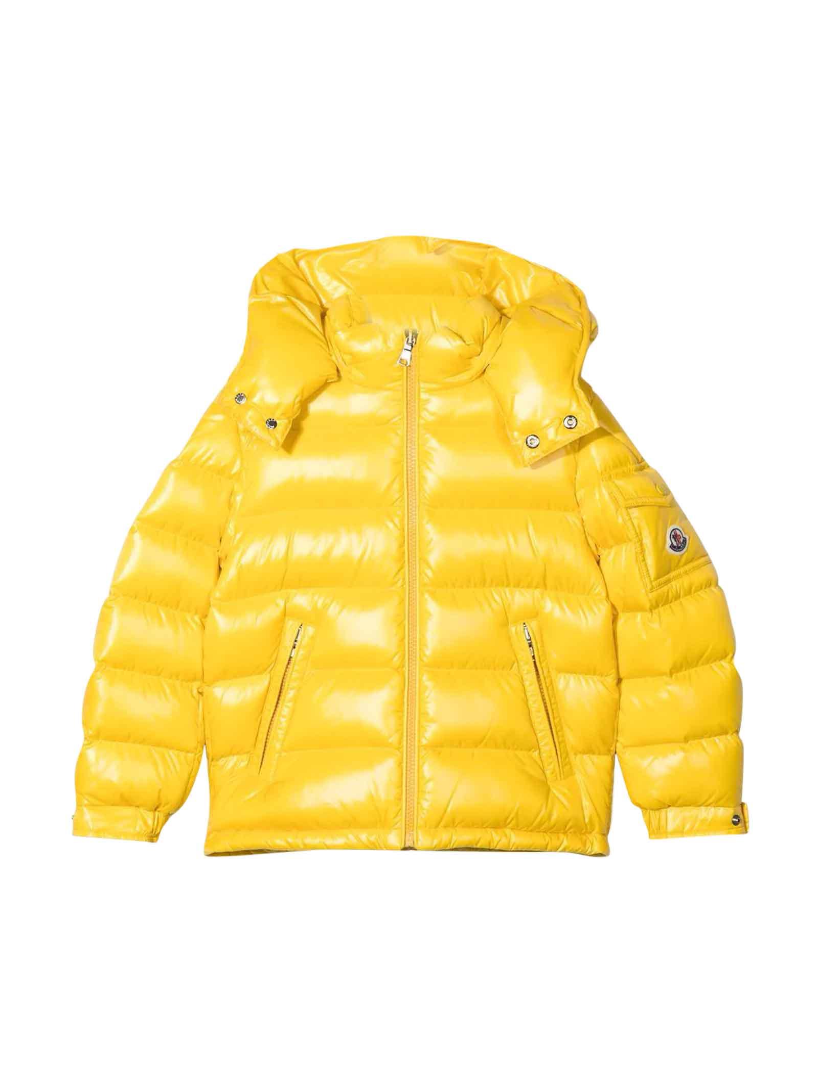 Moncler Moncler Enfant Unisex Yellow Down Jacket