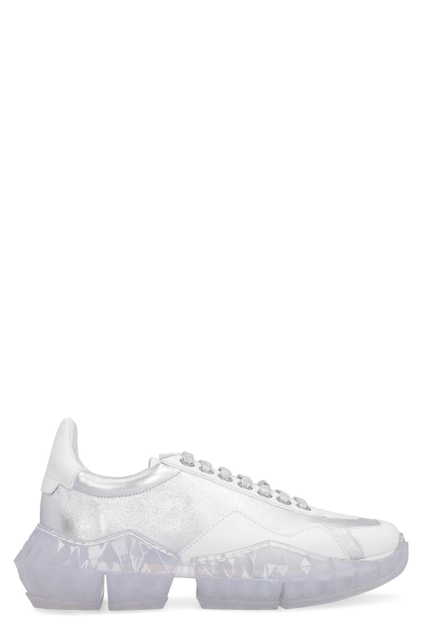 Jimmy Choo Diamond F Leather Low-top Sneakers