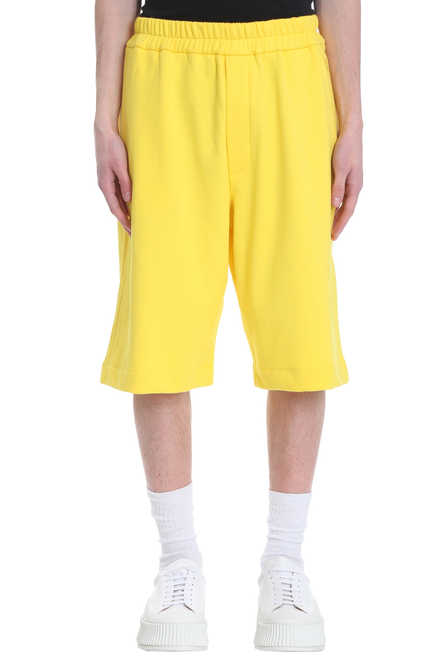 Jil Sander Cottons SHORTS IN YELLOW COTTON