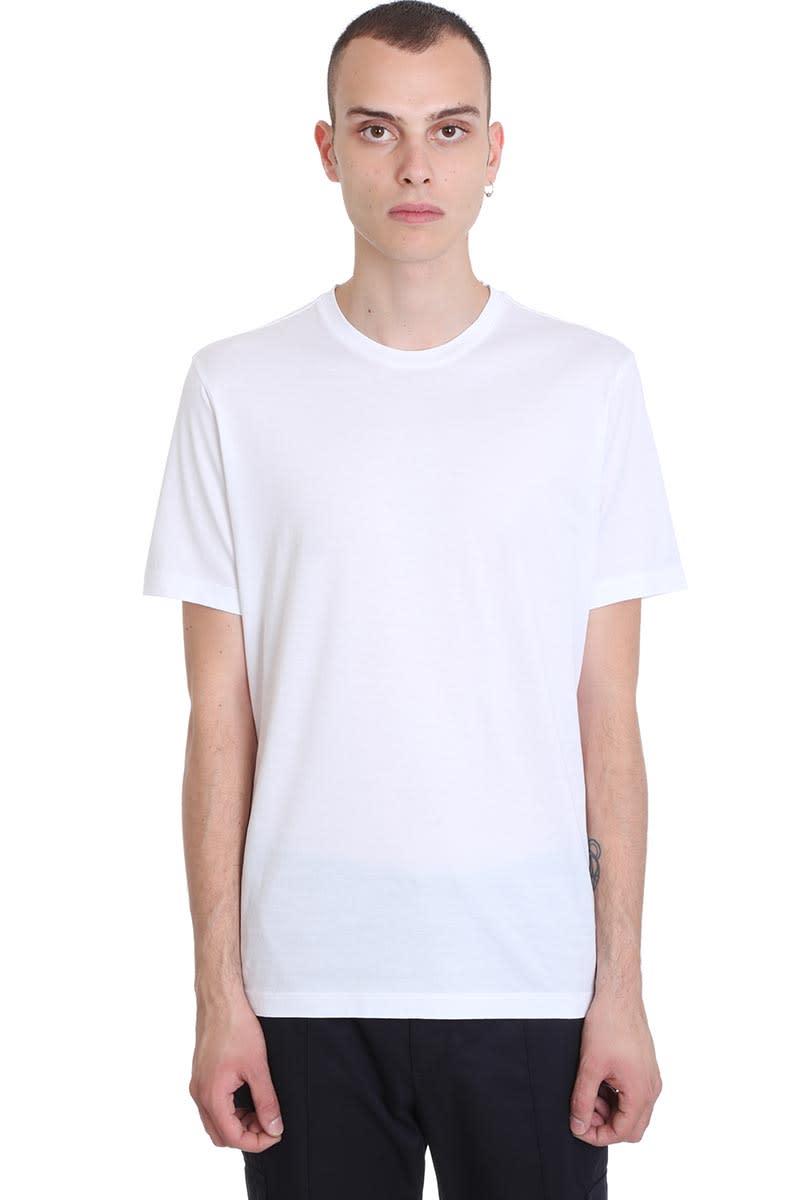 Z Zegna T-shirt In White Cotton