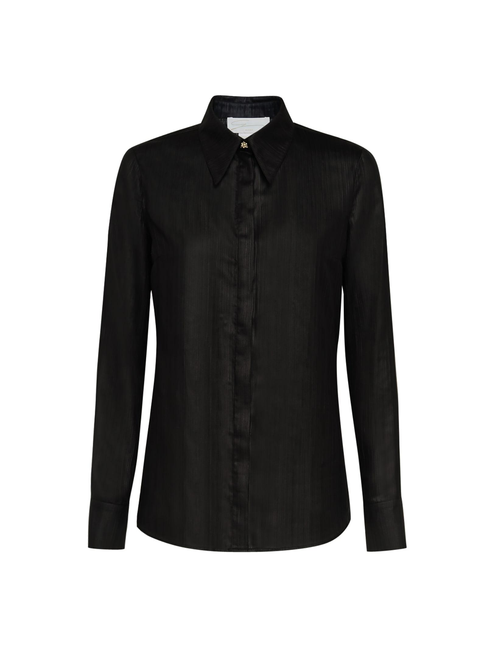 Black Orchid-embellished Shirt