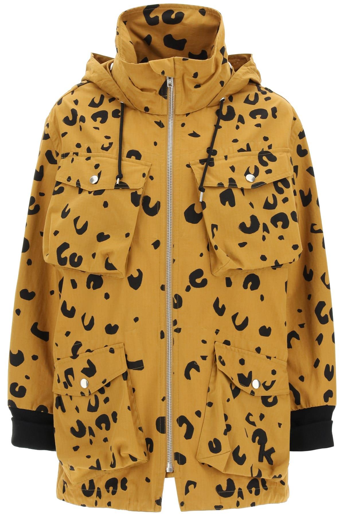 Kenzo Bomber jackets CHEETAH PRINT PARKA