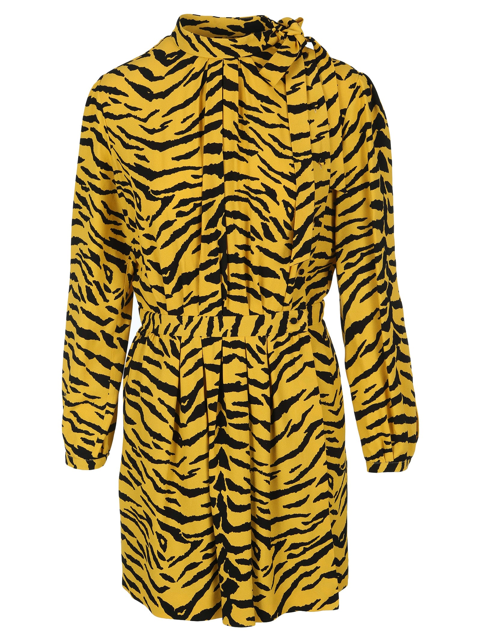 Saint Laurent Zebra Print Wrap Dress