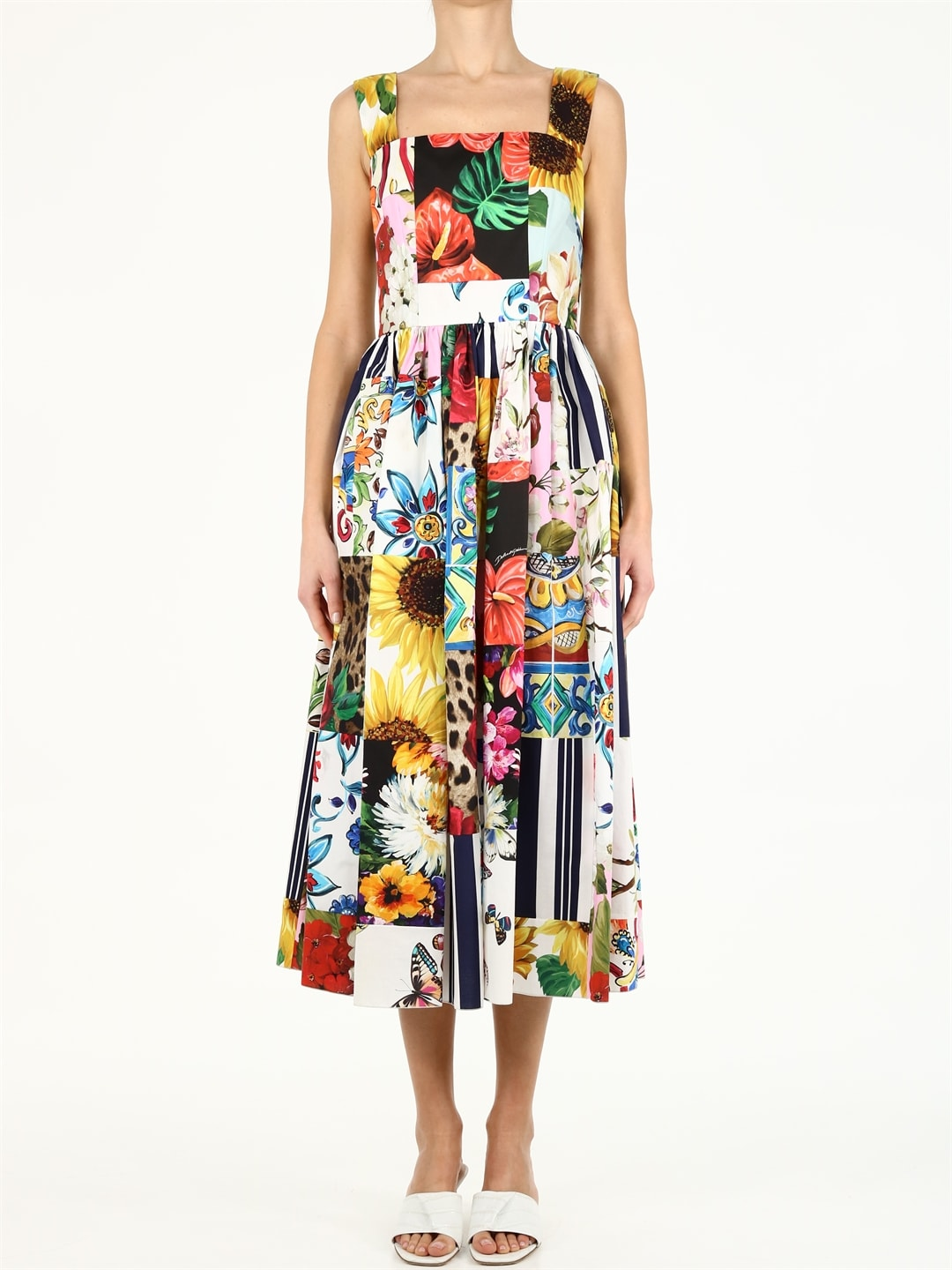 Buy Dolce & Gabbana Patchwork Print Dress online, shop Dolce & Gabbana with free shipping