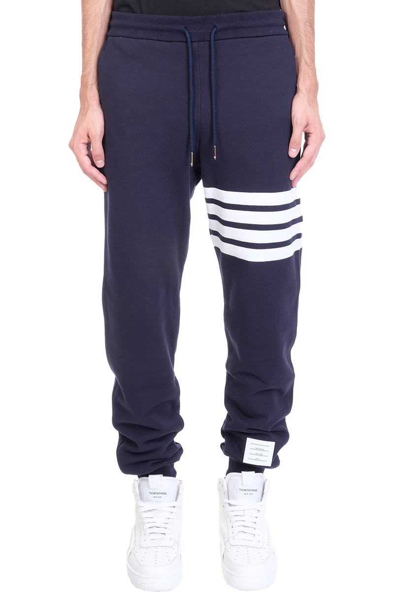 Thom Browne Pants In Blue Cotton