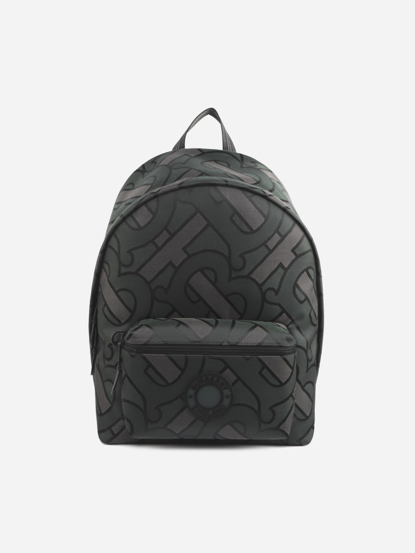 BURBERRY COTTON BLEND BACKPACK WITH JACQUARD MONOGRAM