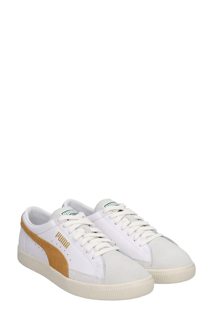 the best attitude 30ab3 c099f Puma Basket 90680 Sneakers In White Suede And Leather