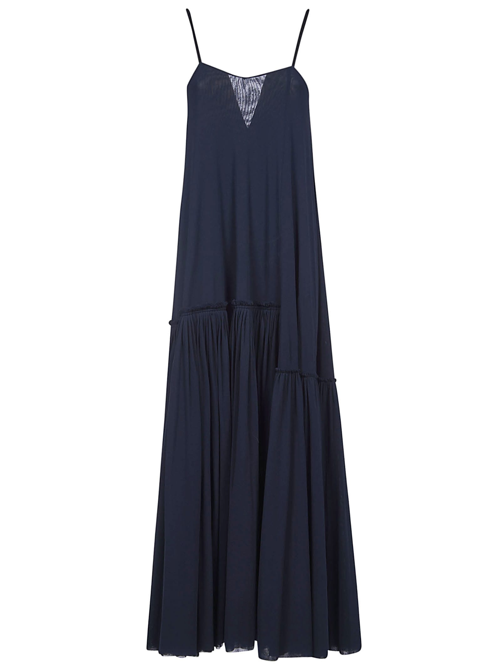 Buy Jil Sander Pleated Skirt Maxi Dress online, shop Jil Sander with free shipping