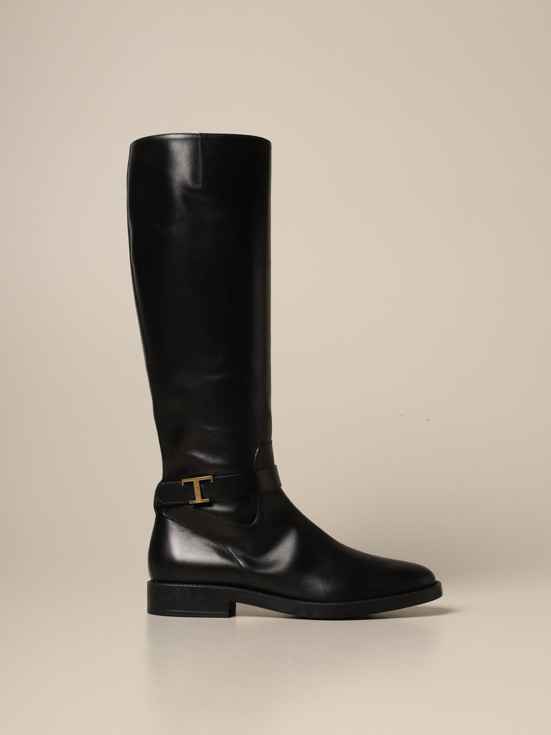 Tod's Shoes LEATHER BOOT WITH T BUCKLE