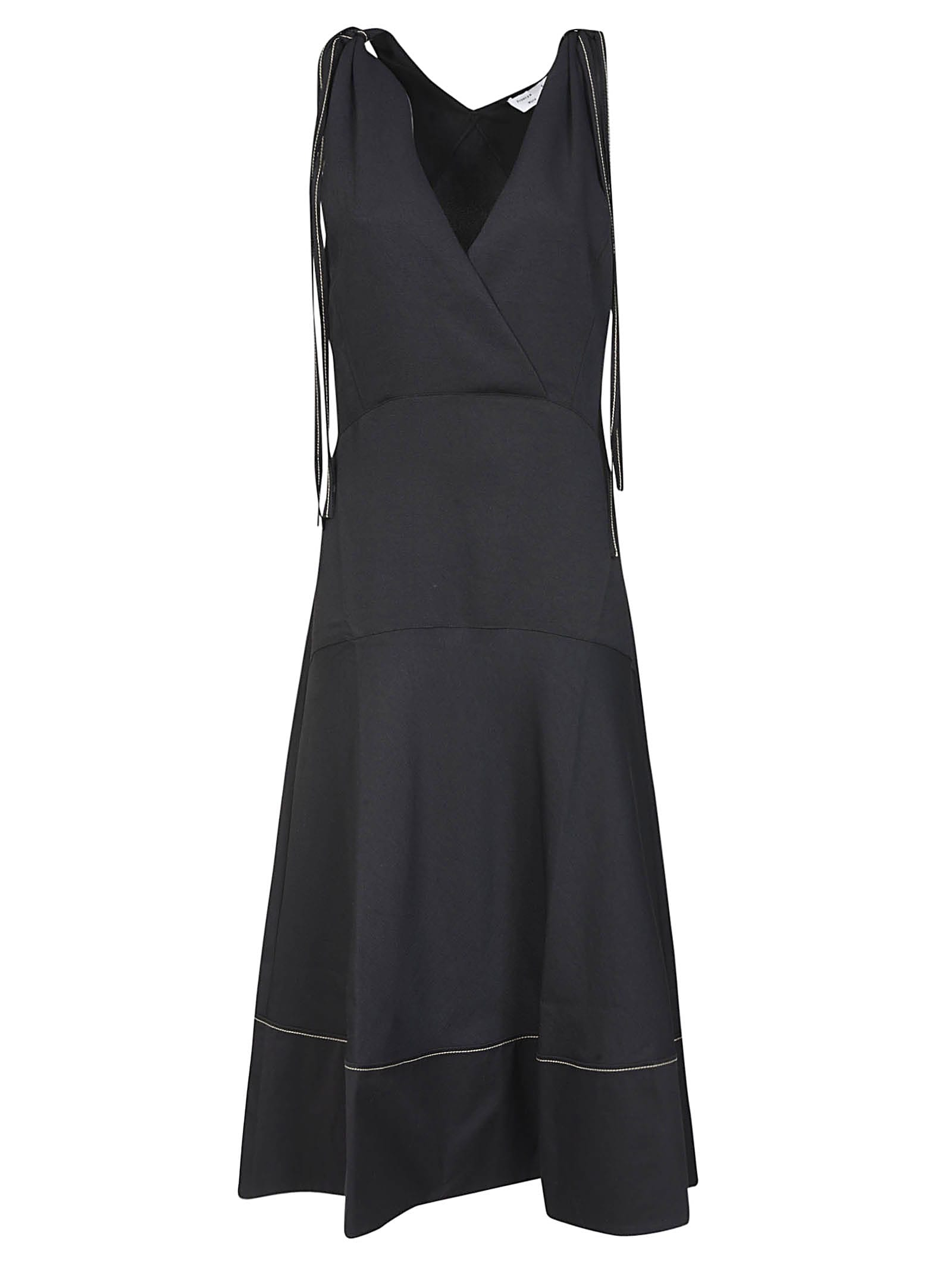 Buy Proenza Schouler V-neck Flared Dress online, shop Proenza Schouler with free shipping